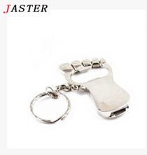JASTER multifunctional cool bottle opener USB Flash Drive foot shape Pen drive original gift  pendrive 4GB/8GB/16GB/32GB