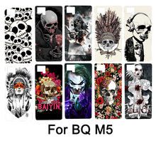 Colorful Skull Design Cool Head Painting Hard PC Protector Phone Case Cover For BQ Aquaris M5 Mobile Phone Bag Cases