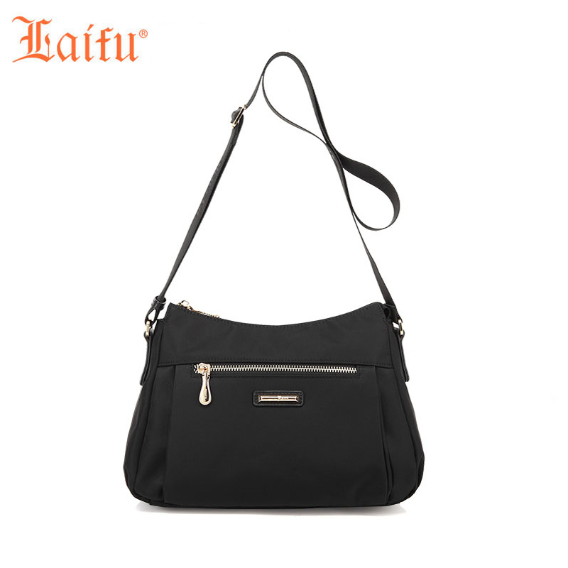 Laifu Fashion Women Messager Bag Crossbody Bag Nylon Waterproof  Lightweight Working Shopping Travel<br>