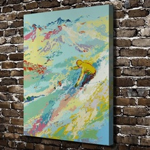 A1961 LeRoy Neiman Abstract Ski Snow Mountain Landscape, HD Canvas Print Home decoration Living Room Wall  pictures Art painting