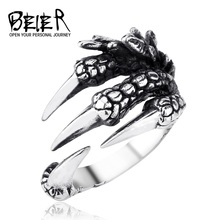 BEIER Punk Stainless Steel Men's Eagle Claw  Ring For Boy Biker Man's High Quality Jewelry Dropshipping BR8-170