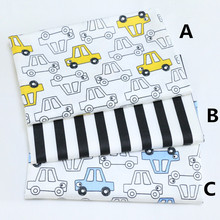 160cm*50cm CAR fabric bedding cotton fabric infant bedding linens baby cloth pillow curtain quilt sewing tissue tecido