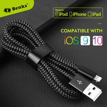 Benks MFi Certified lightning Cable for iPhone 6 iPhone7 iPad iPod Mobile Phone Charger Data Cable 0.25m 1.2m 1.8m(China)