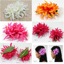 New  FREE SHIPPING+KL36172  50pcs/lot   15CM LX10CM W  10 COLORS MIXED  19PCS Felt  Spider LILY larger hair clip  HAWAII PARTY