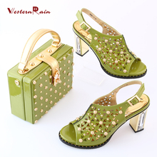 WesternRain Zapatos Mujer Tacon Shoes High Heel Dames Schoenen Hot Sale Factory Price Usa Woman Heels Matching Bag Italian Shoes(China)