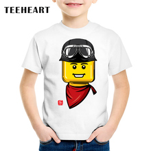 18M-10T Lego Adventure Print Modal T shirt For Girl/Boy Hipster T-Shirts for Children Baby Girls Clothing TA076