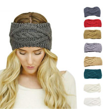 Women Knitting Wool Floral Pattern Fashion Style Hear Band New 2017 Turbantes Solid Accessoire Cheveux Fille Girl Hair Accesorio