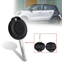 2 Buttons Open Lock Car Remote Key Fob Case Shell Benz/Mercedes Smart Forfour