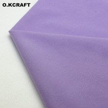 50*100cm Light Purple Solid Fleece Fabric Tilda Plush Cloth Anti-Pilling Velvet Fleece Doll Tissue Fusible Loop Fabrics Q0701(China)