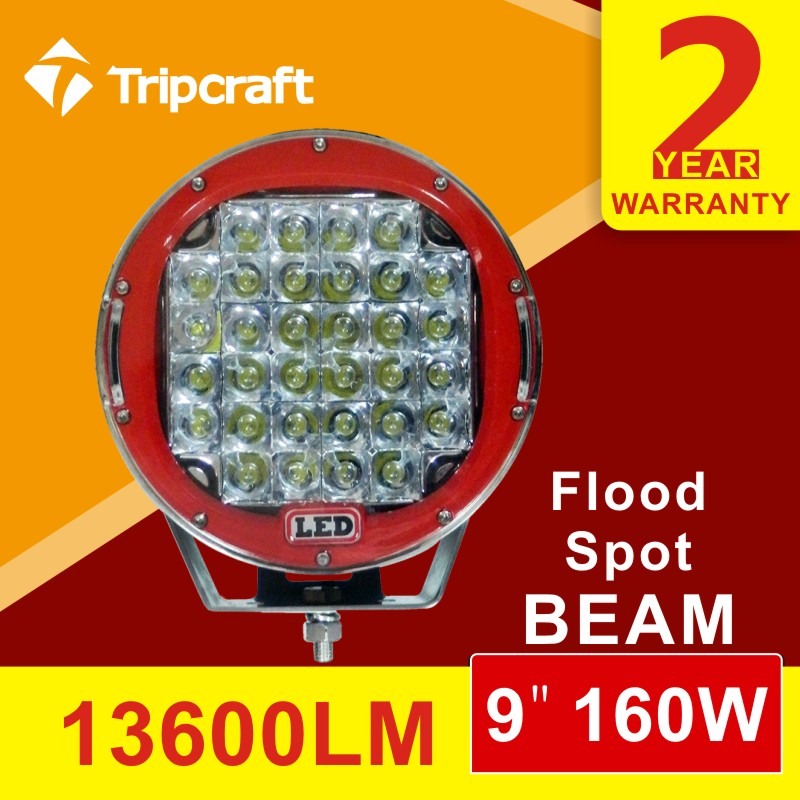 High quality 9inch 160W LED Work Light high power waterproof Offroad Truck Flood Spot Headlight 4x4 10-30V <br><br>Aliexpress