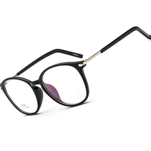 Optical Custom made optical prescription myopia glasses Super light large TR90 glasses frame black or blue Photochrmic -1 to -6(China)