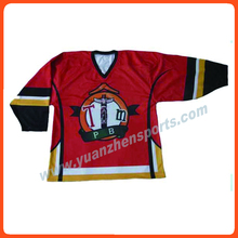 quality assurance attractive design printed popular ice hockey jersey(China)