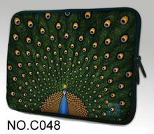 Peacock Neoprene Laptop Bag For Notebook Netbook Sleeve Cases Tablet Pouch For 10 12 13 13.3 14.1 15 15.6 17 Mini Computer Bag