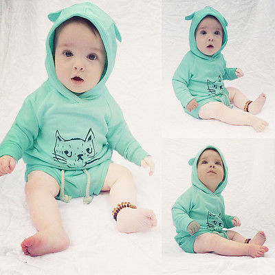 Newborn Infant Baby Boy Girl Hooded Sweatshirt Top+Shorts Set Clothes Outfits 0-2Y<br><br>Aliexpress