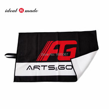 Idealmade bandings Microfiber Deep Waffle Weave Golf Towels with Free Golf Balls Towel with custom design(China)