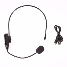 Portable FM Wireless Microphone Headset Megaphone Radio Mic For Loudspeaker/ teaching/sales promotion/meetings/tour guide L3EF