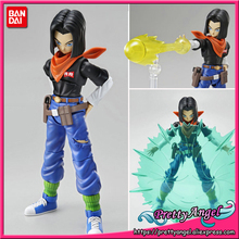PrettyAngel - Genuine Bandai Tamashii Nations Figure-rise Standard Assembly Dragon Ball Z Android #17 Plastic Model Toy Figure