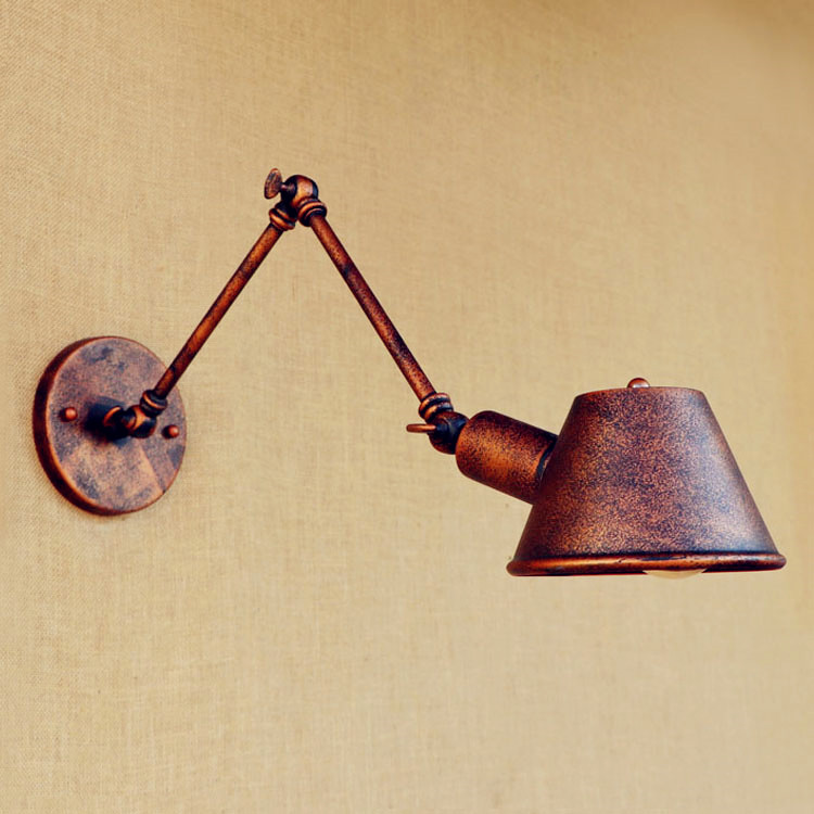 nordic Retro Vintage Wall Lights Fixtures For Home Lighting Wandlamp Swing Long Arm Wall Lamp Loft Industrial Edison Wall Sconce<br>