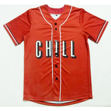 Real American Size 2 styles chill 3D Sublimation Print Custom made Button up baseball jersey plus size