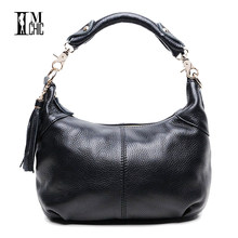 Soft Genuine Leather Cowhide Women Shoulder Bags Real Skin Woman Crossbody Business Work Messenger Casual Tote Handbags 0101(China)