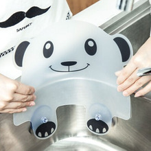 Cute Panda Water Splash Guard Baffle Board Sucker Water Baffle Plate Wash Basin Baffle Sink Board Kitchen Gadgets