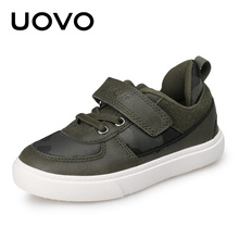 UOVO 2017 New Arrival Camouflage Pattern Children Shoes Spring Autumn Boys Shoes Casual Fashion Shoes for Little & Big Boys(China)