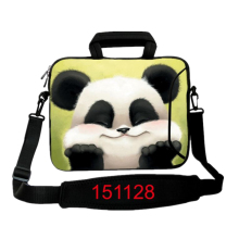 "10''12"" 13"" 14"" 15"" 17"" Tablet PC Portable Panda Laptop Bag Notebook Case Cover Sleeve Shoulder Strap,Outside Pocket For Macbook(China)"