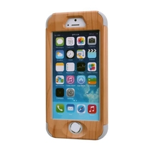 For iphone 5 5S SE Case Wood Grain Design 3 in 1 High Impact Heavy Duty Hard Rugged Rubber Case Cover