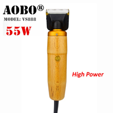 Professional Dog Clipper 55W EU High Power Scissors Pet Trimmer Grooming Electric Shaving Cut Machine Cat Rabbit Hair Shaver(China)