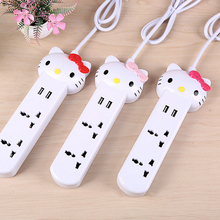 1 Piece Hello Kitty USB Sockets Quick Charging Electrical Plugs in Retail Package Free Shpping