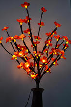 "LED Battery Blossom Branch Light 20"" 60LED Warm White with Various Color Blossom Plum Flolwer Deocation Wedding table decoration"