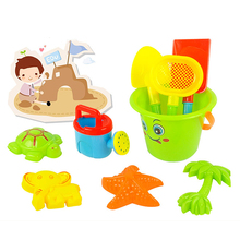 High Quality Kids Children Sand Beach Bucket Toys Set of 9 Classic Toys Bathroom Fun Toys Sunglass Baby Blaying with Water Toys