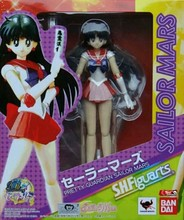 Sailor Moon PVC Figure Sailor Mars Hino Rei Mars Bandai S.H.Figuarts 14CM Sailor Moon Hino Rei Model Toy Sailor Moon Doll