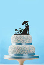 Personality Couple Mr and Mrs Wedding Cake Topper,Unique Bride and Groom Cake Topper,Modern Wedding Decoration Casamento