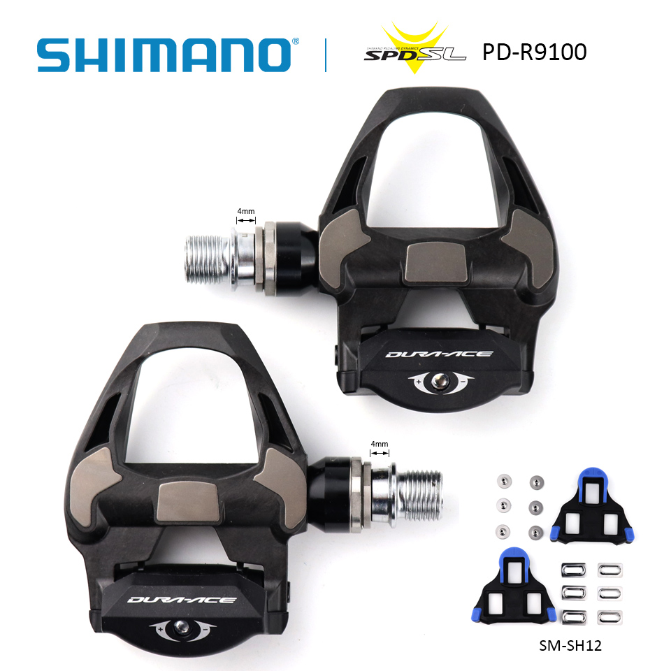 Shimano PD-R9100 Dura-Ace Carbon Road Bike Bicycle Pedals with SM-SH12 Cleats