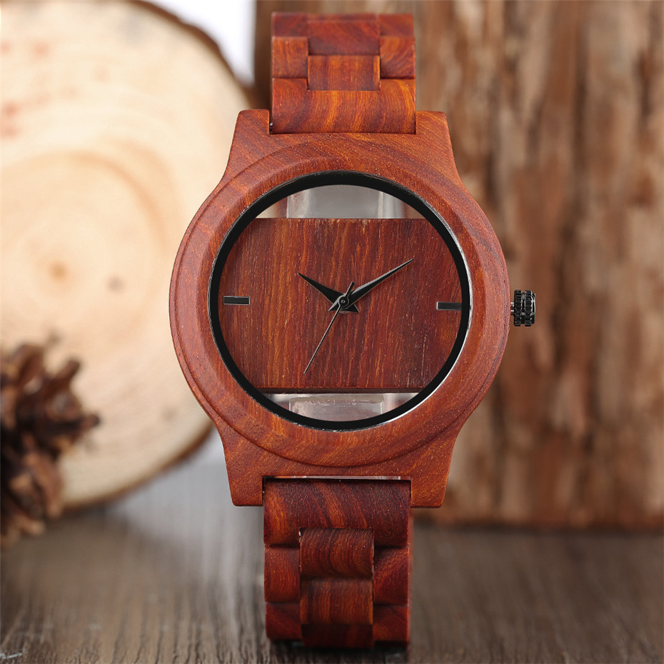 Different color Creative Fashion Casual Sport Simple analog Hollow Bamboo Wooden Men Unique Handmade Wood Quartz Wristwatch+Gift Bags (22)