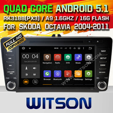 WITSON Android 5.1 CAR DVD GPS Capacitive touch screen for SKODA Octavia CAR AUDIO SYSTEM Cortex A9 Qual-core 16GB Rom