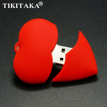 Red Heart Hearts USB Flash Pen drive Driver Genuine 4GB 8GB 16GB 32GB Flash Memory Stick Pendrive Pendriver U disk Wedding gift
