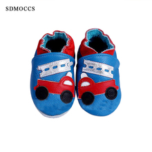 SDMOCCS Brand Genuine Cow Leather Baby Moccasins Soft Sole Infant Toddler Black Shoes Sneakers Slipper Pre-walker Free Shipping