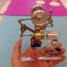 Cool !Miniature Stirling engine model 'small Dance 'hobby Educational Toy Kits(China)