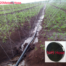 20 Meters Garden Drip Tape 3 Holes type Irrigation Kit N45/1'' Hose Watering System Flat drip line 0.19mm thickness 3 holes