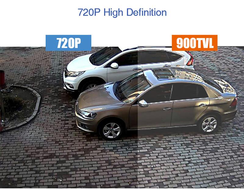 H.VIEW 8ch CCTV Surveillance Kit 4 Cameras Outdoor Surveillance Kit IR Security Camera Video Surveillance System DVR Kits (3)