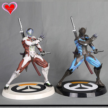 Love Thank You OW Over game watch Overwatches Genji White Blue Skin pvc figure toy Collectibles Model gift doll