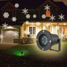Outdoor Lawn Light 6W Garden Led lights 6 LEDs IP65 Waterproof Snowflake Light Projector Garden Decoration Christmas Lighting(China)