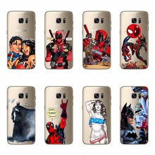Soft Cover For Samsung Galaxy S5 S6 S7 Edge A3 A5 J5 J7 A310 A510 J510 J710 Deadpool Superman Batman TPU Silicon Phone Case Capa