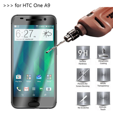 2.5D 0.26mm 9H Premium Tempered Glass For HTC One A9 5.0 inch Screen Protector Toughened protective film(China)