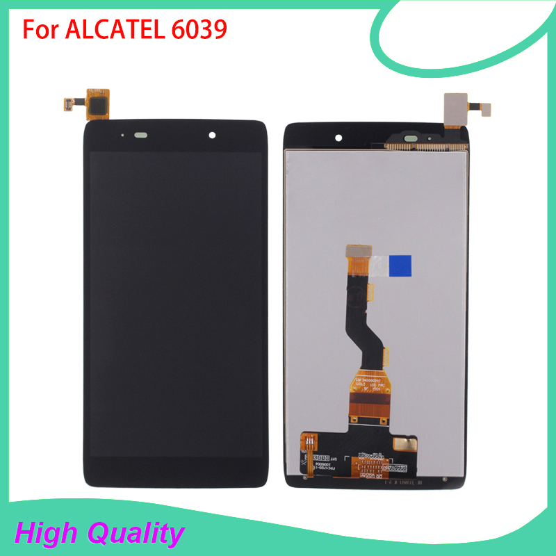HotSelling LCD Display For Alcatel 6039 6039A 6039K 6039Y Touch Screen BlackColor 100%Guarantee Mobile Phone LCDs<br>