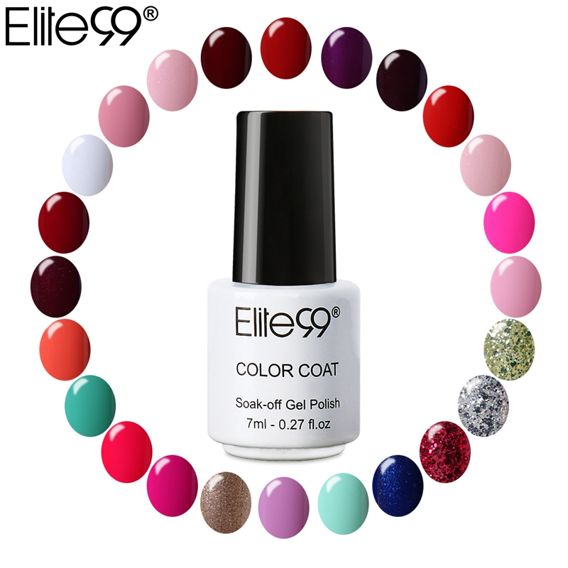 Elite99 Hot Sale 7ml UV Gel Nail Polish Long Lasting Nail Gel Polish Vernis Semi Permanent Nail Primer Gel Varnishes Gelpolish(China (Mainland))