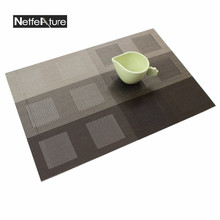 Free Shipping  Kitchen Dining Bar Mats Waterproof Pvc Placemats Table Decoration Accessories Mat Cup Mats Drink Wine Coaster Pad