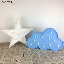 YNL 3D LED Christmas Decoration Night Light Baby Unicorn Child Flamingo Pineapple Cactus Star Cartoon LED Light Romance Table La